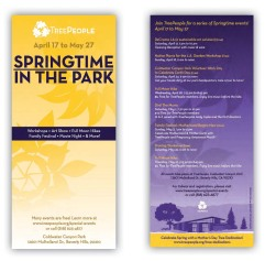 Springtime in the Park: Rack Card