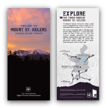 U.S. Forest Service, Mount St. Helens: Rack Card