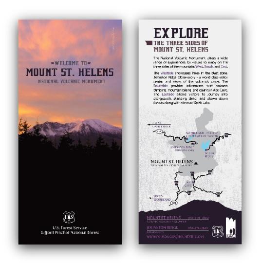 U.S. Forest Service, Mount St. Helens: Rack Card