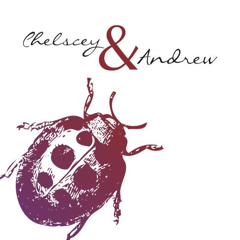 Ranunculus and Ladybugs: Wedding Invitation Set