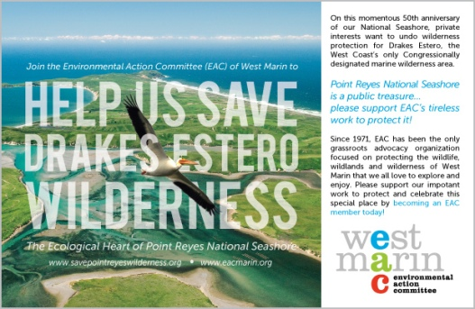 Bay Nature: West Marin Environmental Action Committee Ad