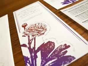Ranunculus and Ladybugs Wedding Invitation