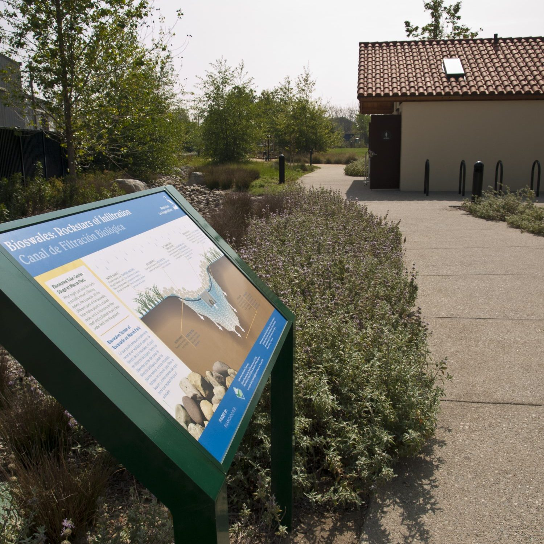 Marsh Park Bioswales Wayside Panel