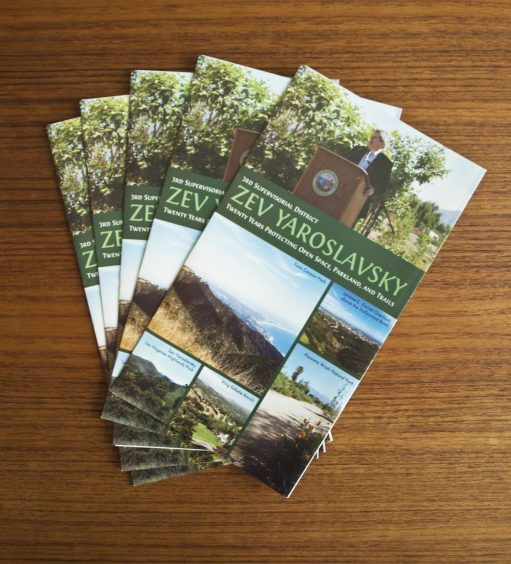 Zev Yaroslavsky Coastal Slope Trail: Brochures