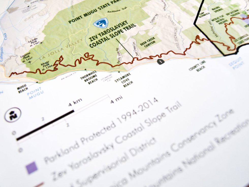 Zev Yaroslavsky Coastal Slope Trail: Map Closeup