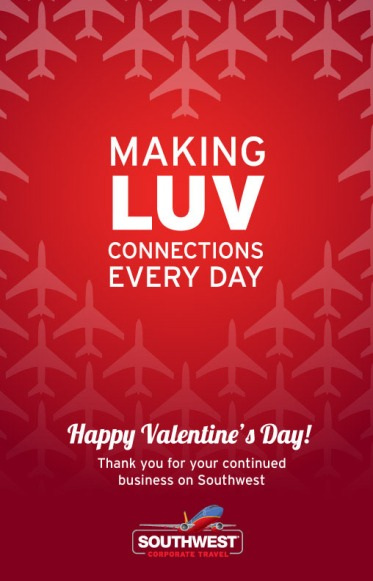 Southwest Airlines: Greeting Cards (Valentine's Day)