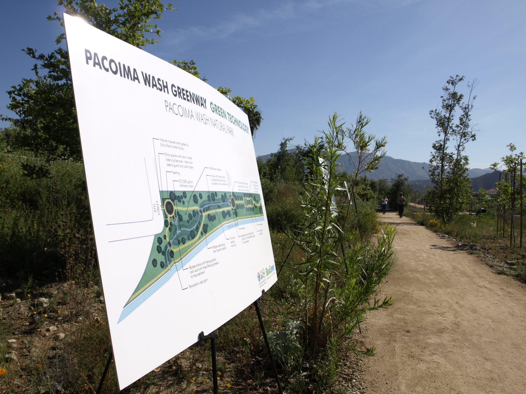 Pacoima Wash Natural Park: Green Technology/Park Map Board