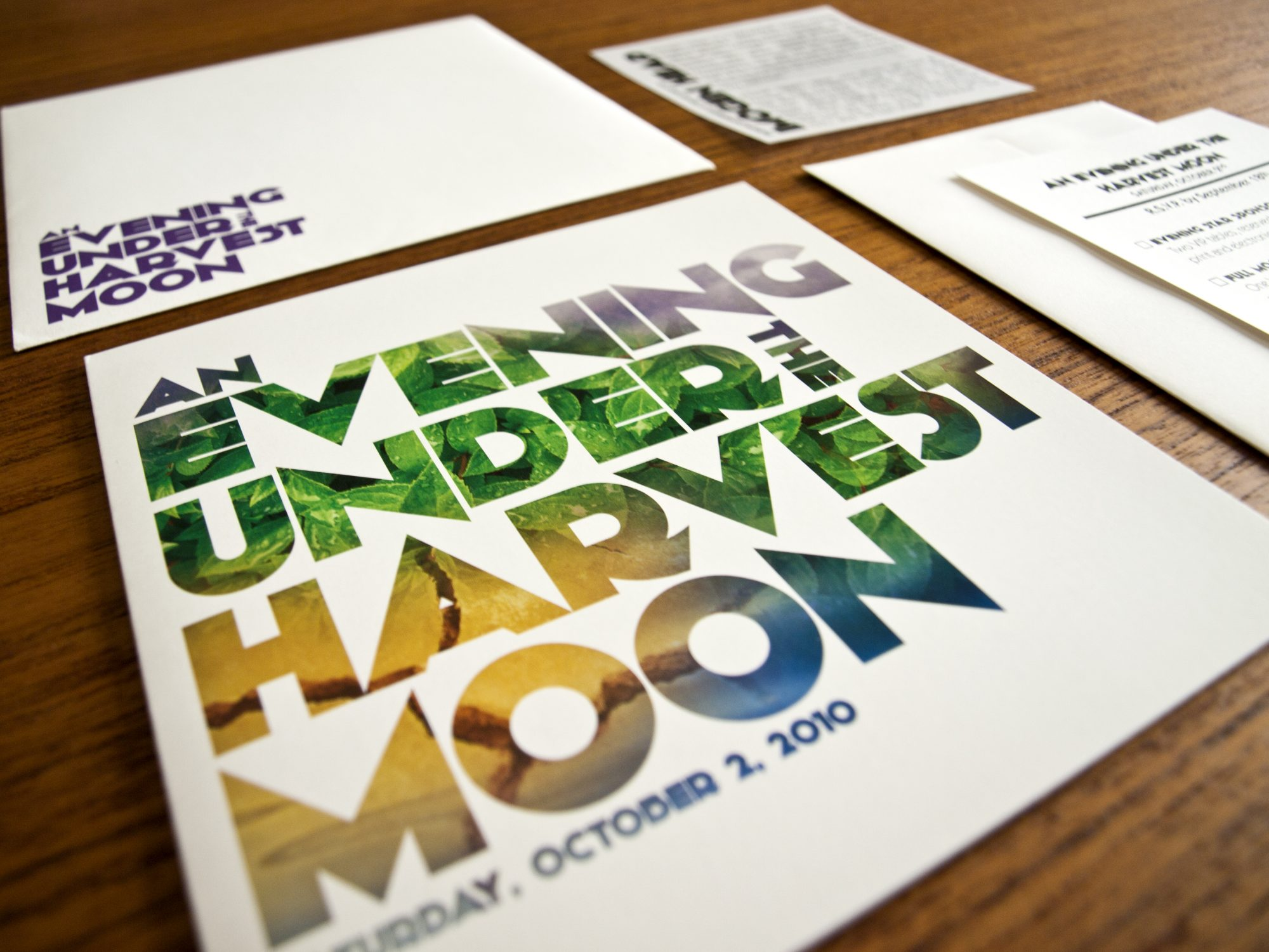 An Evening Under the Harvest Moon: Envelope, Invitation, RSVP Card, and Vellum Insert