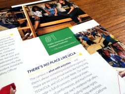 UCLA Housing & Residential Life Brochure: Inside Panel Closeup