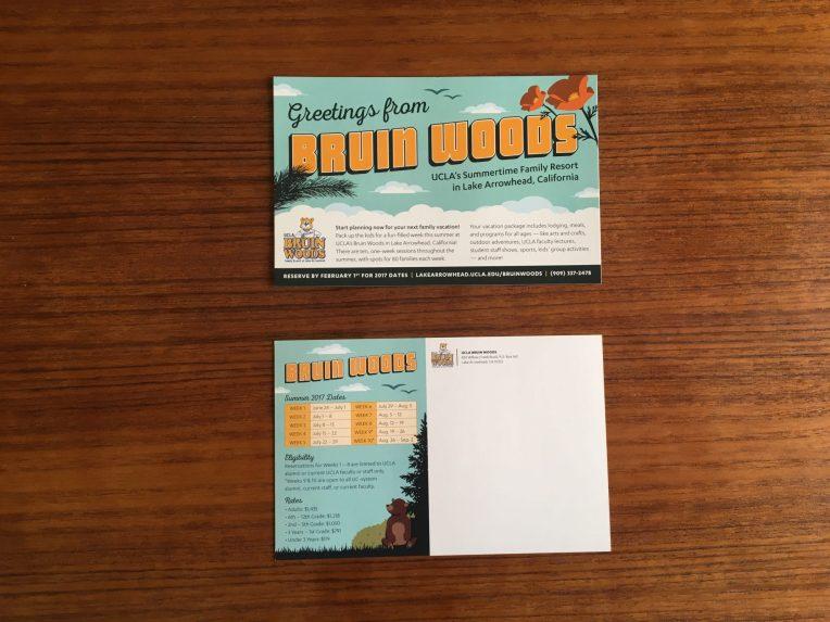 UCLA Bruin Woods Postcard