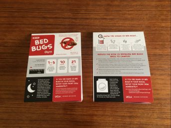 UCLA Bed Bug Inforgraphic Tent Cards