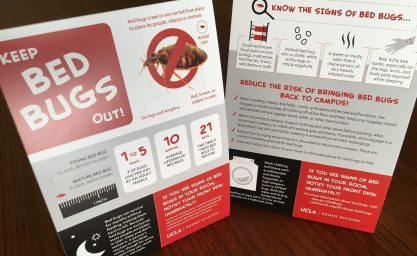 UCLA Bed Bugs Inforgraphic Tent Cards