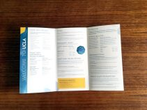 UCLA Conferences & Catering In-Room Materials: Brochure Inside Panels